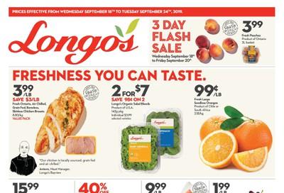 Longo's Flyer September 18 to 24
