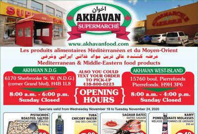 Akhavan Supermarche Flyer November 18 to 24