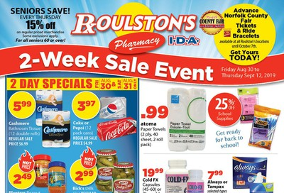 Roulston's Pharmacy Flyer August 30 to September 12