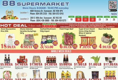 88 Supermarket Flyer November 19 to 25