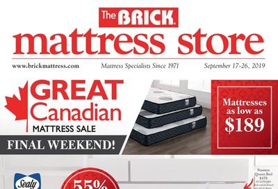 The Brick Mattress Store Flyer September 17 to 26