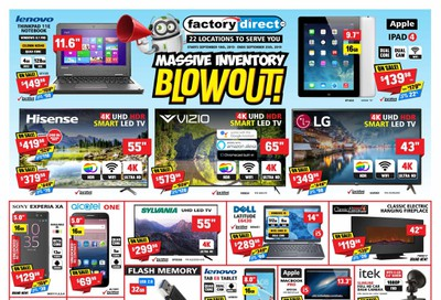 Factory Direct Flyer September 18 to 25