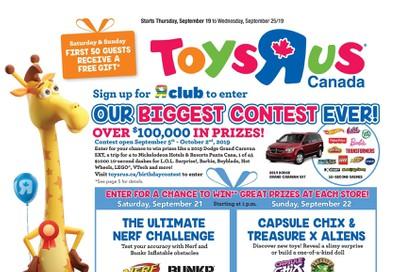Toys R Us Flyer September 19 to 25