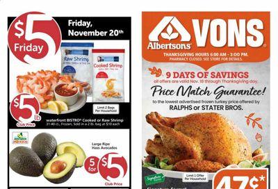 Albertsons Weekly Ad Flyer November 18 to November 26