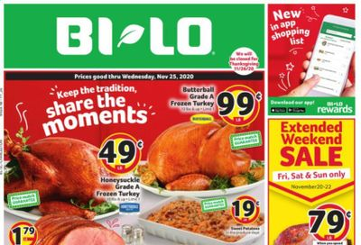 BI-LO Weekly Ad Flyer November 18 to November 25