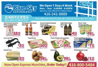 Blue Sky Supermarket (North York) Flyer November 20 to 26