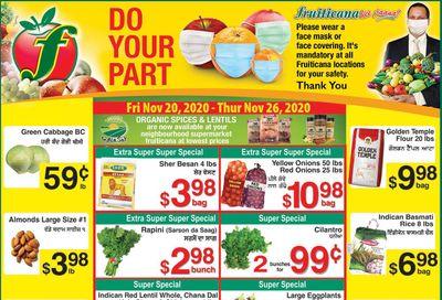 Fruiticana (Edmonton) Flyer November 20 to 26