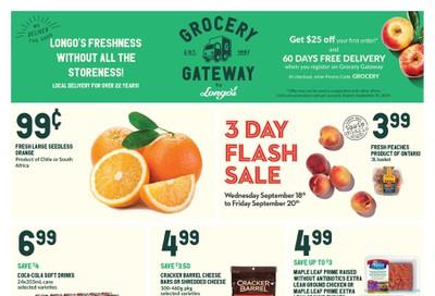 Longo's Grocery Gateway Flyer September 18 to 24