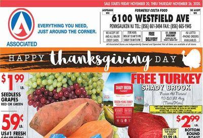 Associated Supermarkets Weekly Ad Flyer November 20 to November 26