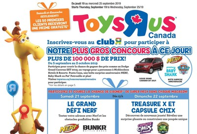 Toys R Us (QC) Flyer September 19 to 25