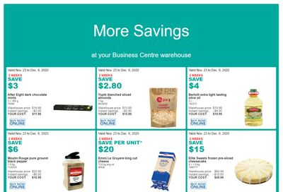 Costco Business Centre (ON & QC) Instant Savings Flyer November 23 to December 6