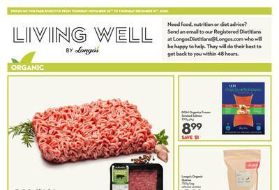 Longo's Living Well Flyer November 26  to December 31