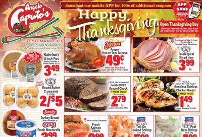 Angelo Caputo's Thanksgiving Ad Flyer November 25 to December 1, 2020