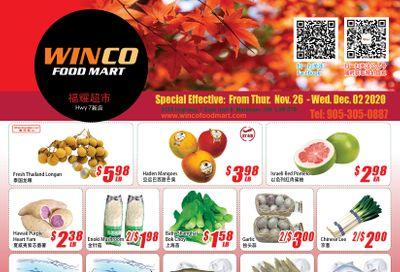 WinCo Food Mart (HWY 7) Flyer November 26 to December 2