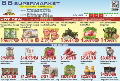 88 Supermarket Flyer November 26 to December 2