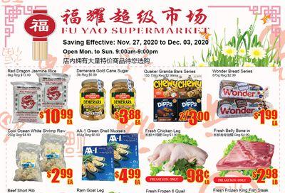 Fu Yao Supermarket Flyer November 27 to December 3