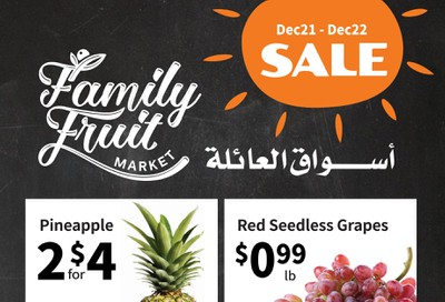 Family Fruit Market Flyer December 21 and 22