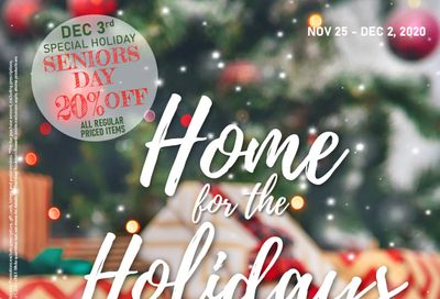 Roulston's Pharmacy Home for the Holidays Flyer November 25 to December 2