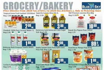 Blue Sky Supermarket (Pickering) Flyer November 27 to December 3