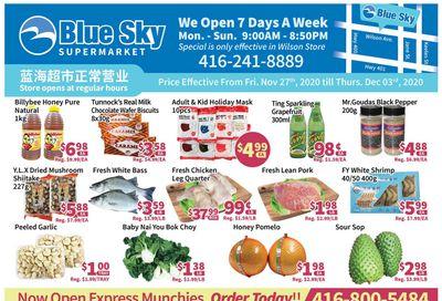 Blue Sky Supermarket (North York) Flyer November 27 to December 3