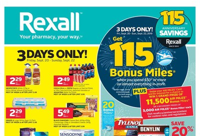Rexall (West) Flyer September 20 to 26