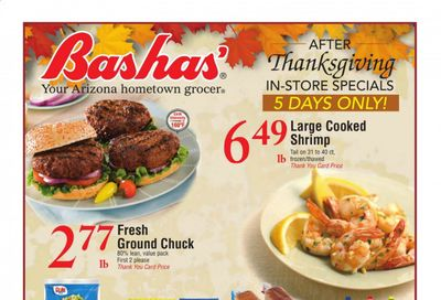 Bashas' (AZ) Weekly Ad Flyer November 27 to December 1