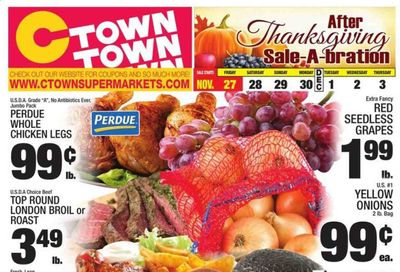 C-Town Weekly Ad Flyer November 27 to December 3