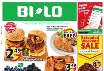 BI-LO Weekly Ad Flyer November 27 to December 1