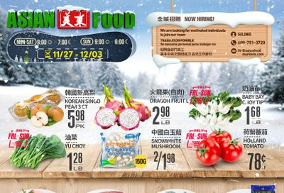 Asian Food Markets Weekly Ad Flyer November 27 to December 3, 2020