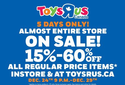 Toys R Us 2019 Boxing Week Flyer December 24 to January 8