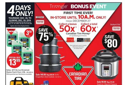 Canadian Tire (Atlantic) 2019 Boxing Week Flyer December 26 to January 2