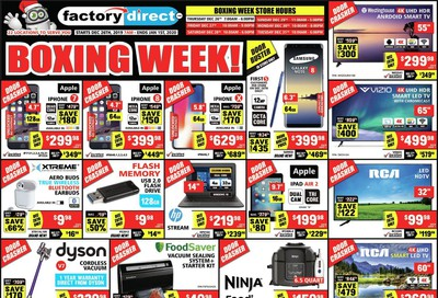 Factory Direct 2019 Boxing Week Flyer December 26 to January 1