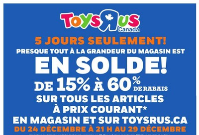 Toys R Us (QC) 2019 Boxing Week Flyer December 24 to January 8