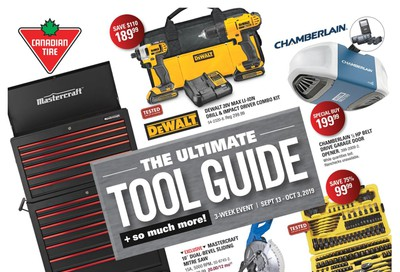 Canadian Tire The Ultimate Tool Guide September 13 to October 3