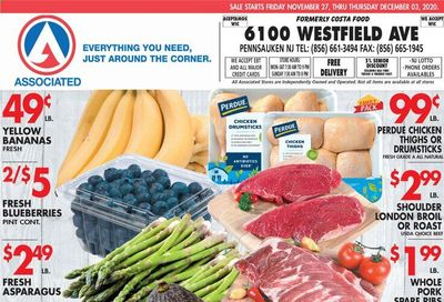 Associated Supermarkets Weekly Ad Flyer November 27 to December 3