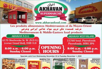 Akhavan Supermarche Flyer November 25 to December