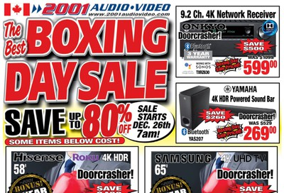 2001 Audio Video 2019 Boxing Week Flyer December 24 to January 2