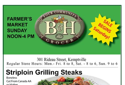 B&H Your Community Grocer Flyer September 20 to 26
