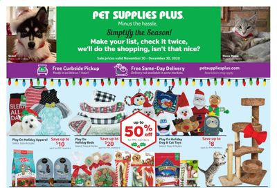 Pet Supplies Plus Weekly Ad Flyer November 30 to December 30