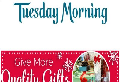 Tuesday Morning Weekly Ad Flyer November 26 to December 9