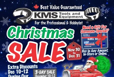 KMS Tools and Equipment Flyer November 30 to December 31