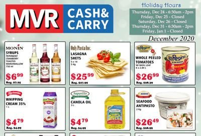 MVR Cash and Carry Flyer December 1 to 31