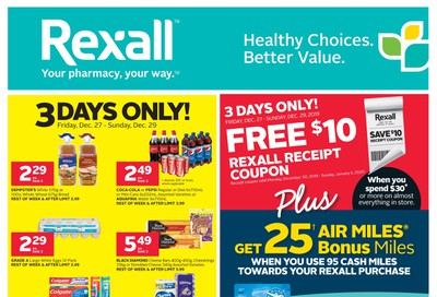 Rexall (West) Flyer December 27 to January 2