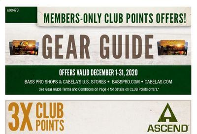 Bass Pro Shops Weekly Ad Flyer December 1 to December 31