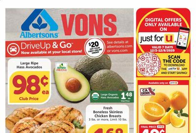 Albertsons Weekly Ad Flyer December 2 to December 8