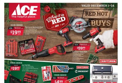 ACE Hardware Weekly Ad Flyer December 1 to December 24