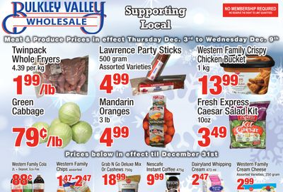 Bulkley Valley Wholesale Flyer December 3 to 9