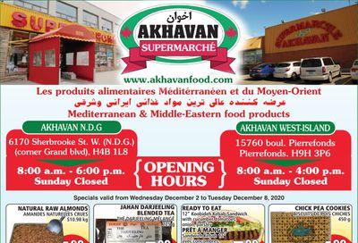 Akhavan Supermarche Flyer December 2 to 8
