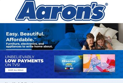 Aaron's Weekly Ad Flyer November 26 to January 9