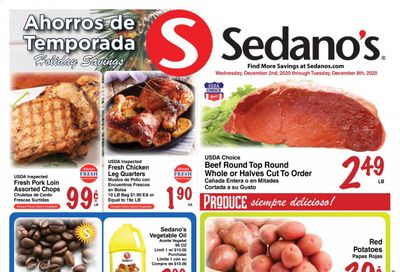 Sedano's (FL) Weekly Ad Flyer December 2 to December 8
